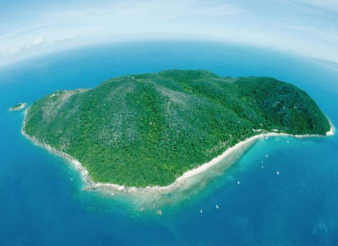 Aeriel view of Fitzroy Island