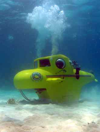 Submarine sitting on the sea bed - so peaceful